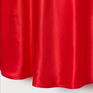 H&M Skirts - Red satin skirt